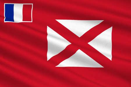 polynesia: Flag of Wallis and Futuna (France), Mata-Utu - Polynesia. 3d illustration