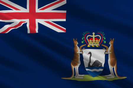 queensland: Flag of Western Australia (WA) is a state occupying the entire western third of Australia. 3d illustration Stock Photo