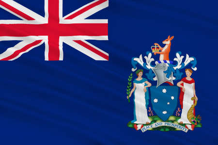 melbourne australia: Flag of Victoria (Vic) is a state in the south-east of Australia. 3d illustration Stock Photo