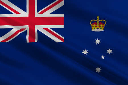 ballarat: Flag of Victoria (Vic) is a state in the south-east of Australia. 3d illustration Stock Photo