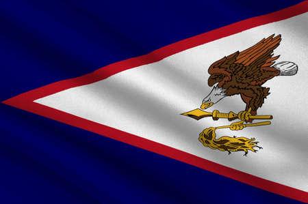 Flag of Territory of American Samoa. 3d illustration