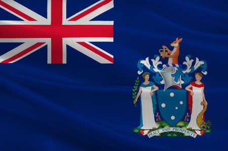 queensland: Flag of Victoria (Vic) is a state in the south-east of Australia. 3d illustration Stock Photo