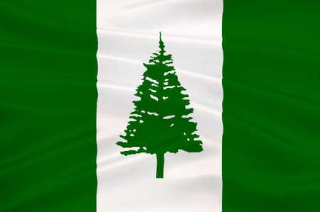 kingston: Flag of Norfolk Island (Australia) - Kingston. 3d illustration