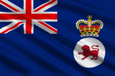 commonwealth: Flag of Tasmania is an island state of the Commonwealth of Australia. 3d illustration