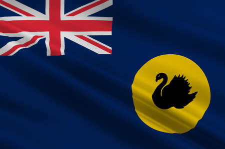 albany: Flag of Western Australia (WA) is a state occupying the entire western third of Australia. 3d illustration Stock Photo