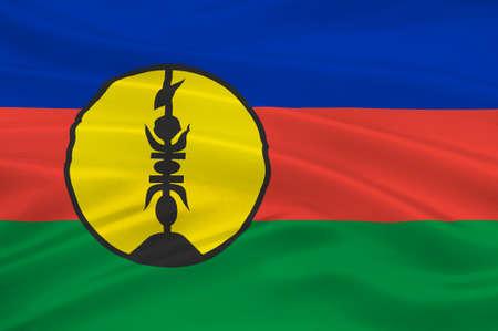 Flag of New Caledonia, Melanesia. 3d illustration Stock Photo