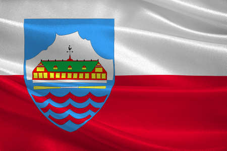 norway flag: Flag of Nuuk is the capital and largest city of Greenland. 3d illustration