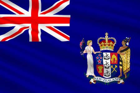 Flag of Nauru in Micronesia. 3d illustration Stock Photo
