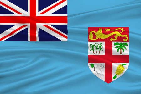 Flag of Fiji, Suva - Melanesia. 3d illustration