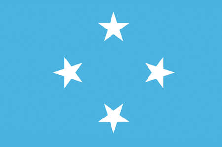 Flag of Federated States of Micronesia. 3d illustration