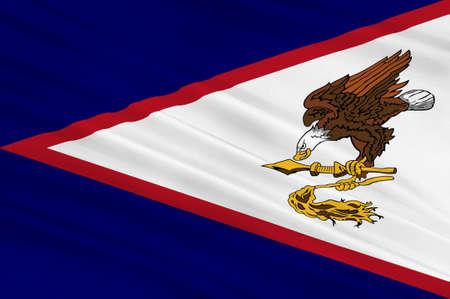samoa: Flag of Territory of American Samoa. 3d illustration