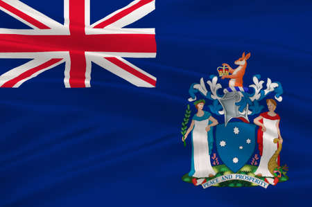 Flag of Victoria (Vic) is a state in the south-east of Australia. 3d illustration Stock Photo