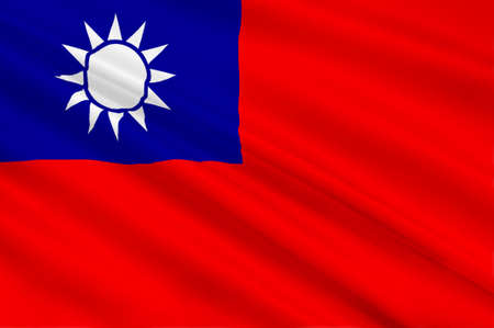 azalea: Flag of Taiwan officially the Republic of China is a state in East Asia. 3d illustration Stock Photo