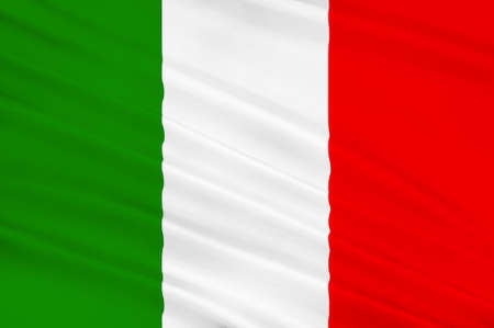 parliamentary: Flag of Italy officially the Italian Republic is a unitary parliamentary republic in Europe. 3d illustration