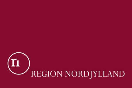 danish flag: Flag of North Jutland Region of Denmark. 3d illustration Stock Photo