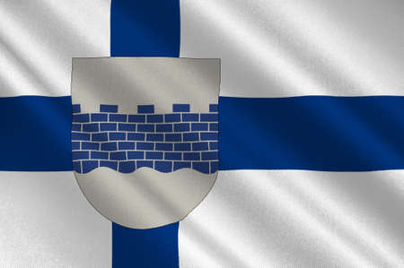 Flag Of Seinajoki is a city located in Southern Ostrobothnia, Finland. 3d illustration