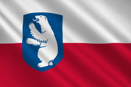 norway flag: Flag of Greenland is an island country of Denmark Kingdom. 3d illustration