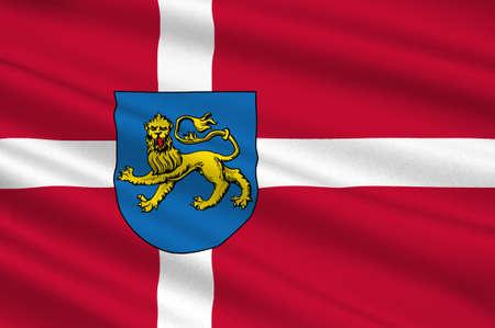 southern: Flag of Varde in Southern Denmark Region. 3d illustration
