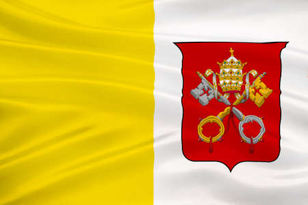walled: Flag of Vatican City officially Vatican City State  is a walled enclave within the city of Rome. 3d illustration