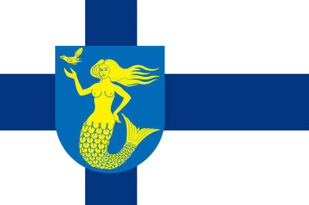 suomi: Flag Of Paijanne Tavastia region in Finland. 3d illustration