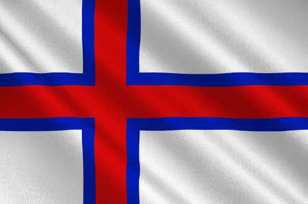 norway flag: Flag of Faroe Islands is an island country of Denmark Kingdom. 3d illustration