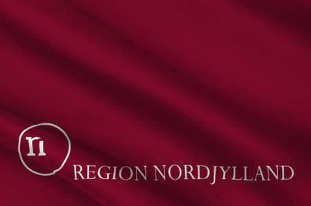 Flag of North Jutland Region of Denmark. 3d illustration Stock Photo