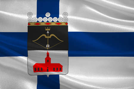 suomi: Flag Of Kuopio is a city and a municipality in the region of Northern Savonia, Finland. 3d illustration
