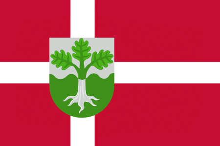 commune: Flag of Dragor is a municipality in Region Hovedstaden of Denmark. 3d illustration