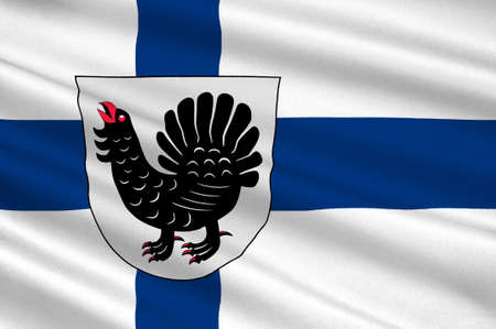 suomi: Flag Of Central Finland region in Finland. 3d illustration Stock Photo