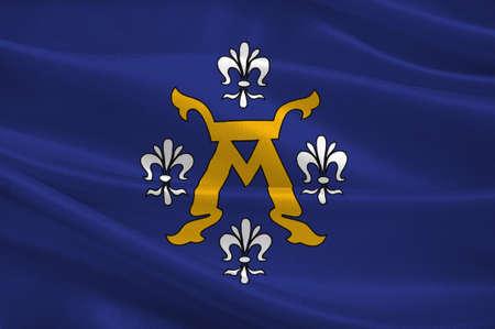 scandinavia: Flag of Turku is a city on the southwesin Western Finland Province of Finland. 3d illustration