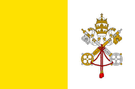vatican city: Flag of Vatican City officially Vatican City State  is a walled enclave within the city of Rome. 3d illustration