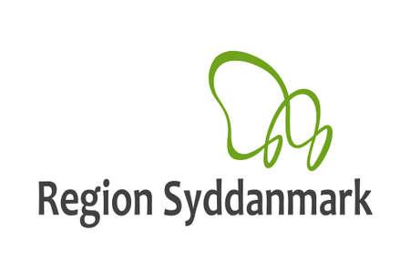 commune: Flag of Southern Denmark Region. 3d illustration Stock Photo