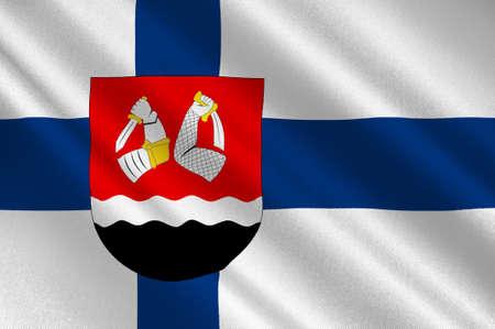 karelia: Flag Of South Karelia region in Finland. 3d illustration