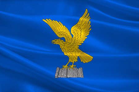 Flag of Friuli-Venezia Giulia is one of the 20 regions of Italy. 3d illustration Stock Photo