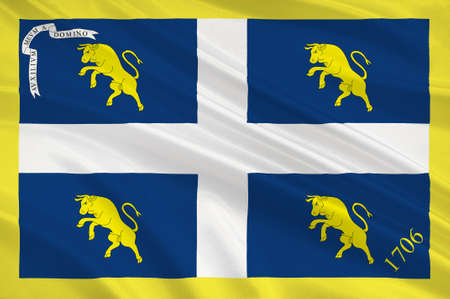 Flag of Piedmont is one of the 20 regions of Italy. 3d illustration Zdjęcie Seryjne