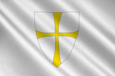 scandinavia: Flag of Nord-Trondelag is a county constituting the northern part of Trondelag in Norway. 3d illustration
