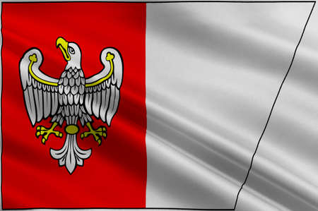 greater: Flag of Greater Poland Voivodeship or Wielkopolska Province in west-central Poland. 3d illustration