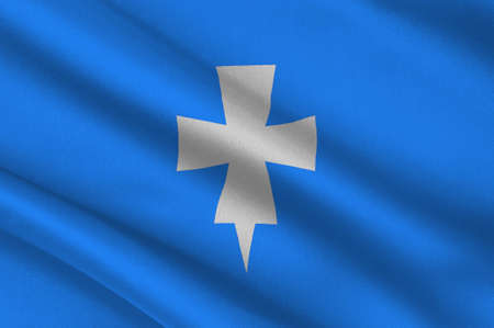 Flag of Rogaland is a county in Western Norway. 3d illustration