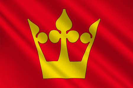 Flag of Vestfold is a county in Norway. 3d illustration Stock Photo