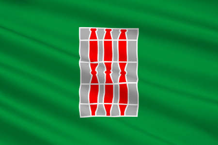 terni: Flag of Umbria is a region of historic and modern central Italy. 3d illustration