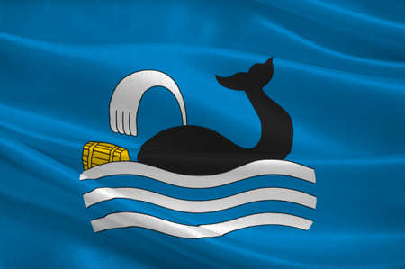 scandinavia: Flag of Molde is a city and municipality in Romsdal in More og Romsdal county, Norway. 3d illustration