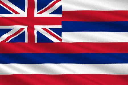 allegiance: Flag of Hawaii, Honolulu - United States. 3D illustration Stock Photo