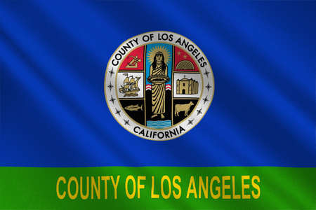dorado: Flag of Los Angeles County in California state, United States. 3D illustration