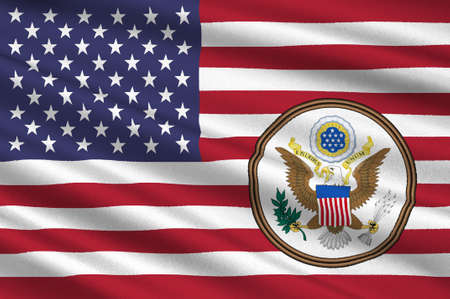 us congress: Flag of United States of America (USA). 3D illustration