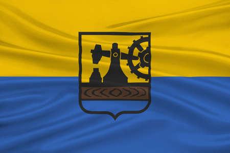 Flag of Silesian Voivodeship or Silesia Province in southern Poland. 3d illustration
