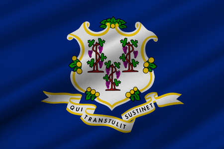 arsenal: Flag of Connecticut state in United States. 3D illustration