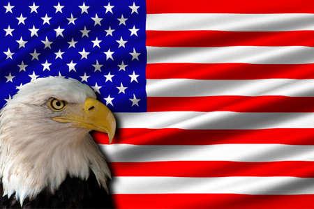 Flag of United States of America (USA). 3D illustration