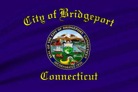 arsenal: Flag of Bridgeport is the city in state of Connecticut, United States. 3D illustration