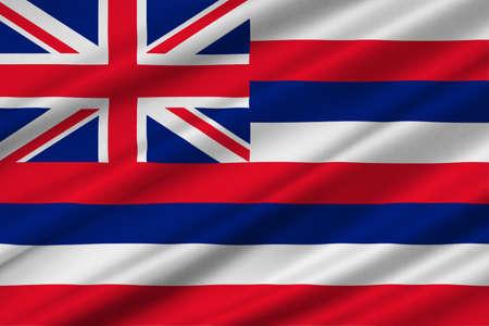 Flag of Hawaii, Honolulu - United States. 3D illustration Фото со стока