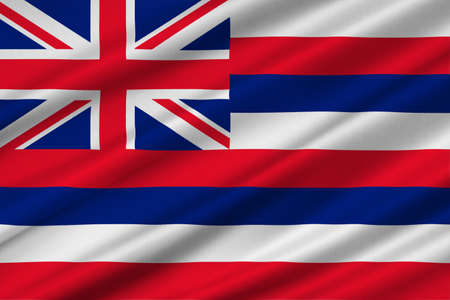 Flag of Hawaii, Honolulu - United States. 3D illustration Stock Photo